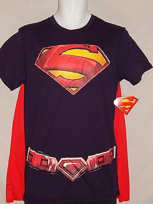 Neu Superman Film Umhang T-Shirt Dc Comics Buch Kostüm Cosplay Man Of - Dc Comics Neue Superman Kostüm