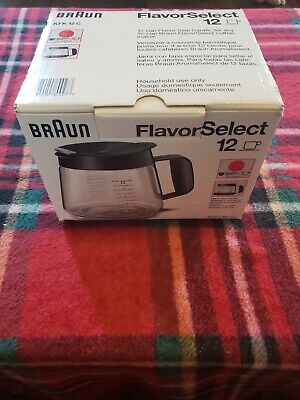 Braun FlavorSelect Carafe KFK 12C, 12 Cup Replacement Glass Coffee Flavor Select ()
