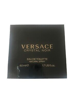 VERSACE Crystal Noir 50ml EDT Women's Perfume New Boxed & Sealed FAST P&P VGC A1