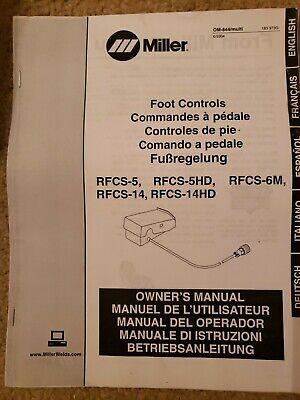 Miller Foot Controls Rfcs-5 Rfcs-5hd Rfcs-6m Rfcs-14 Owners Manual