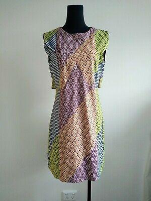 Kate Spade Saturday Polka Dot Colourful Shift Dress US 4 AU 8