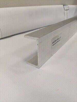 2 Pieces - Aluminum Channel 6005-t6 Extrusion 3 X .130 X 1-12 X 24long