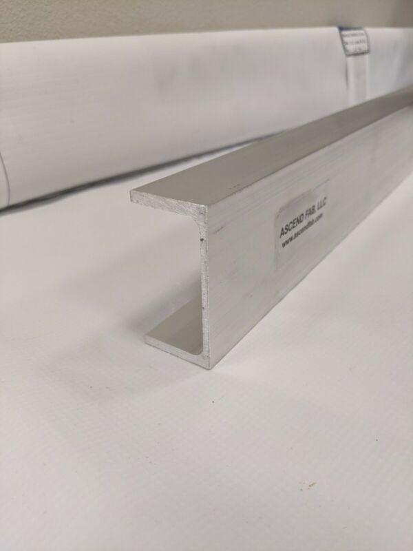 "Aluminum Channel 6005-T6 Extrusion 3"" x .130"" x 1-1/2"" x 24""Long"