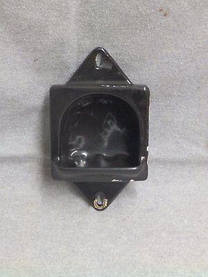 Antique Cast Iron Black Porcelain Recessed Soap Dish Old VTG Bathroom 145-16