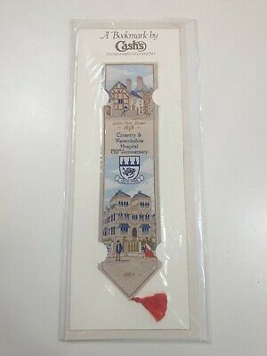Cash's Coventry Vintage Bookmark Cov & Warwick Hospital 150th Anniversary 1988