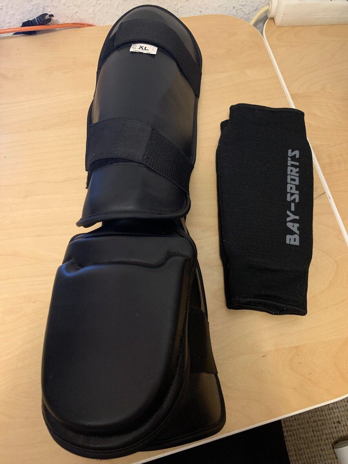 MMA Schienbeinschoner + Unterarmschoner XL Muay Thai Kickboxen Schienbeinschutz