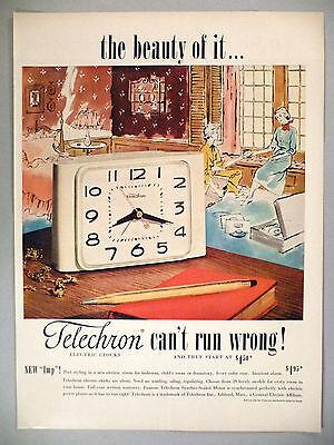 Telechron Electric Clock PRINT AD - 1951 ~~ Imp Alarm Clock ~~ Ashland, MA