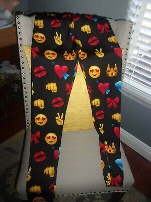 Pickyboo Women's Emoji Leggings size XL