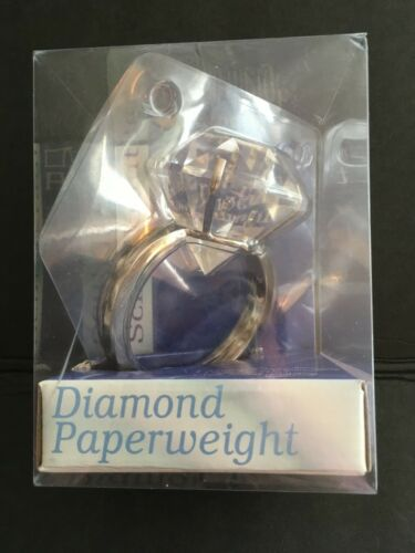 2003 Schildkraut Large Diamond Ring Paperweight in Unopened Package