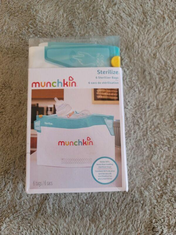 Munchkin Jumbo Microwave Bottle Sterilizer Bags, 180 Uses, 6 Pack