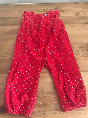Baby Gap Red Romper Jumpsuit 18-24 Months