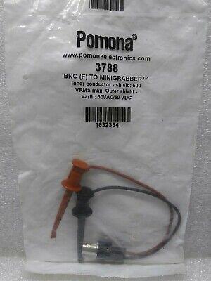Pomona 3788 Bnc F To Minigrabber Test Lead Electronics Avionics Tool Equipment