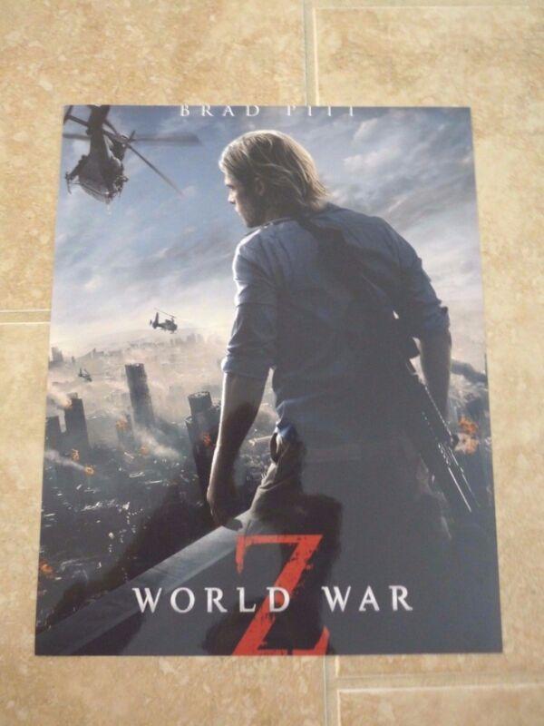 Brad Pitt World War Z Sexy 11x14 Promo Color Movie Photo