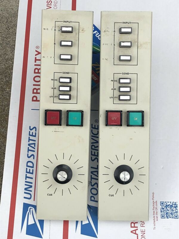 2 '70s Sparta broadcast input preamps channel strips w/sensitivity switch