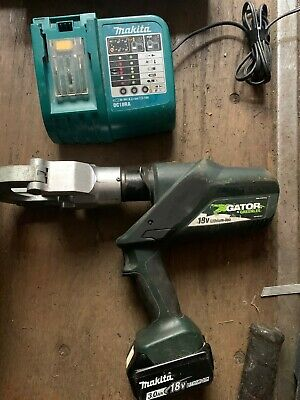 Greenlee Battery Cable Cutter Esg50l With Battery And Chargere