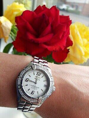 Breitling COLT Oceane Women's Watch A57350 32MM Steel, Diamonds Top