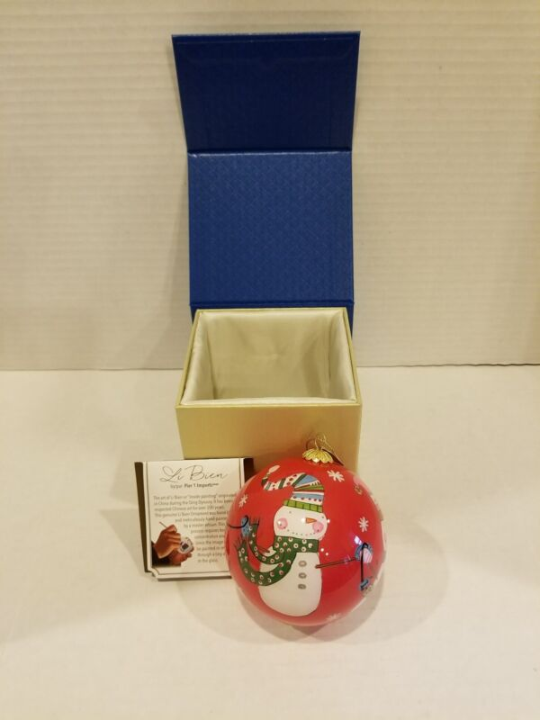 "2017 Pier 1 Imports Li Bien ""LET IT SNOW"" Ornament  NIB"