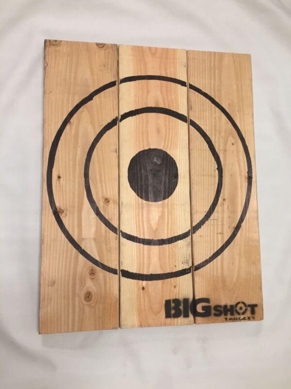 Wooden Axe Throwing Target With Bottle Opener