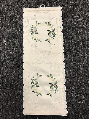 12 Pieces Handmade Rosebud Embroidery Toilet Tissue Roll Holder - Double Size