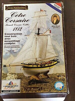 """French Model Kit (French Corssir Cutter """"Le Renard"""" Ship Model Kit 1812-1:50 Scale (France) )"""