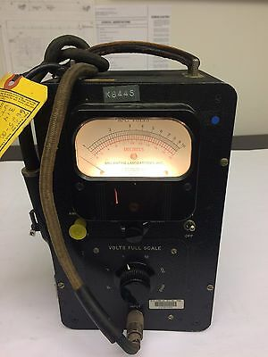 Vintage Ballantine Electronic Ac Voltmeter Model 314 110-120v 5060 Cycl. Tested