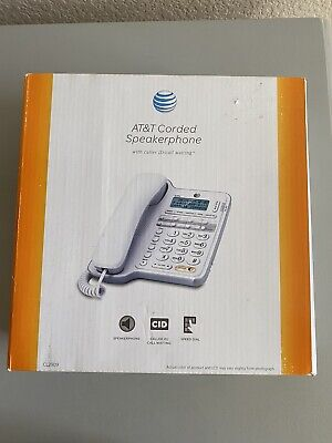 New AT&T Corded Phone White with Speakerphone and Caller ID & Call Waiting