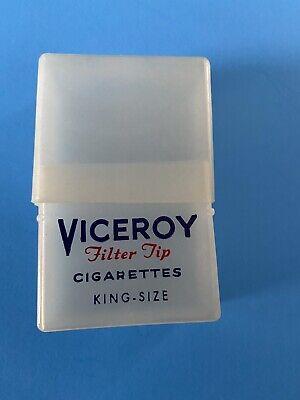 Vintage Viceroy Plastic Crush Proof Cigarette Pick Case 2 Piece Tobacciana HTF