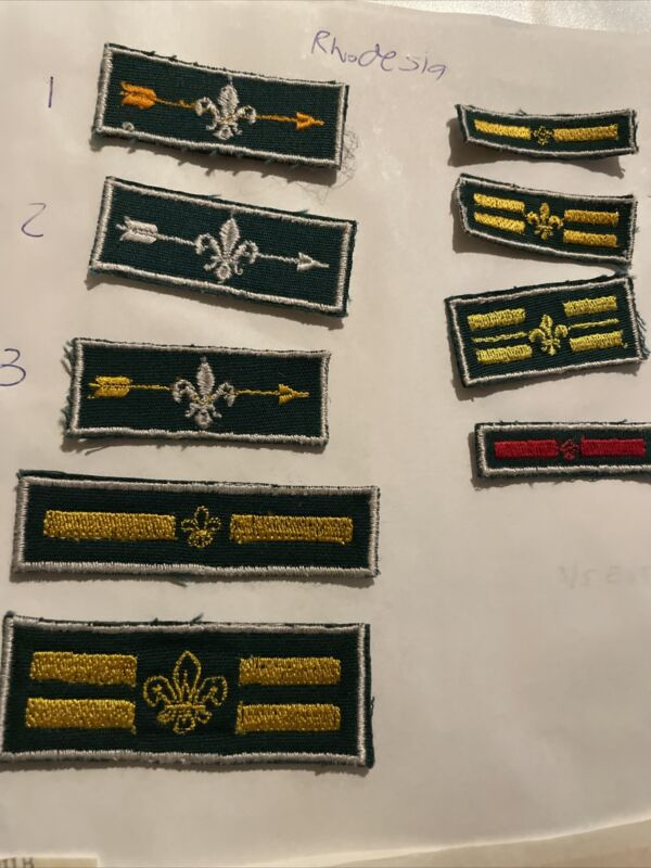 Africa Lot of 14 Cub And Boy Scout Patches From Rhodesia And Advancement Awards