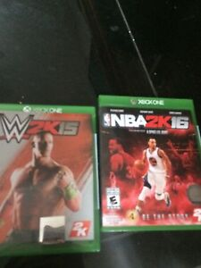 Xbox 1 games wwe and NBA