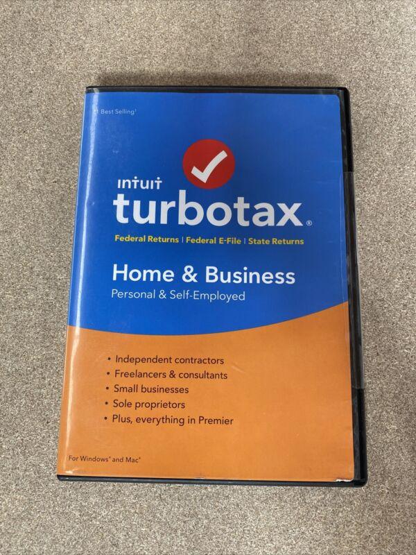 New 2017 TurboTax Home-Business CD Federal Tax Preparation Windows/Mac Software
