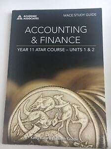 Year 11 - Accounting & Finance WACE study guide Claremont Nedlands Area Preview