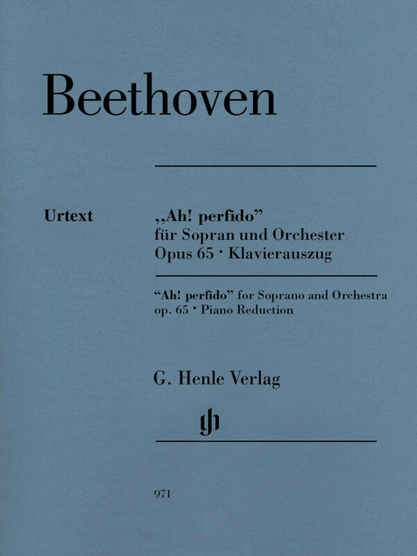 Beethoven Ah! Perfido Op 65 for Soprano & Piano Henle Urtext Sheet Music Book