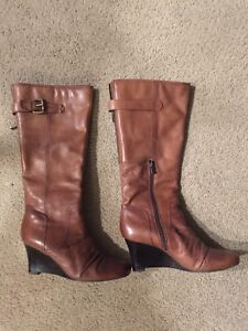 Beautiful brown boots size 11 - wide calf!