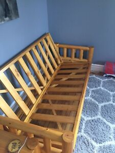 WORTH $2500! $1200 OBO! SELLING PINE WOOD FUTON AND TABLE SET