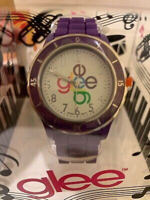 New Glee Watch 2011 Purple band And White Face ()