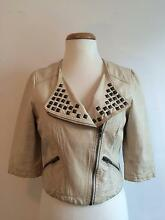 Super cute cropped leather jacket - Women's size 8 St Peters Marrickville Area Preview