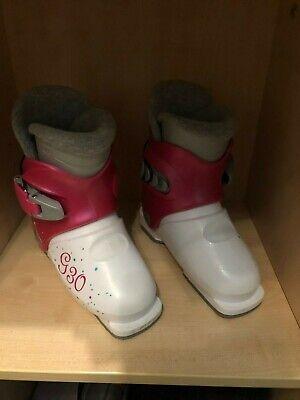 Kinder SkiSchuhe G30 Größe 18,5 bzw. 223 mm von Technopro weiss pink für Mädchen Skischuh Größe 30