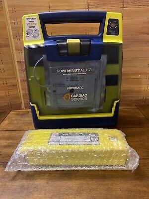 Cardiac Science Powerheart Aed G3 Automatic Pad Wnew Battery Defibrillator Defib