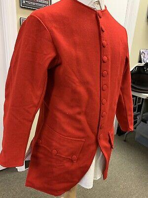 Mid-18th Century, Rev War Man's Frock Coat, RED WOOL, 42