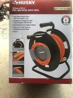 Huskypvc Air Hose With Reel14 In X 50 Ft300 Psinew In Box
