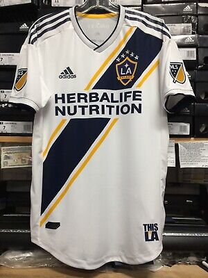 Adidas New Mls La Galaxy Home Jersey 2019 White Name Authentic Size Large  Only for sale  Shipping to Canada