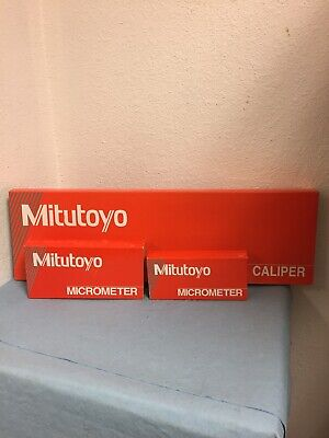 Mitutoyo Caliper 12 Lot 505-677 0-1 And 1-2 Mitutoyo Micrometers New