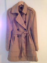 Wool coat, beige, size 8/10 Cremorne North Sydney Area Preview