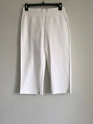 - NEW EILEEN FISHER PETITE STRETCHY WASHABLE CREPE PULL ON CROP PANTS SZ PP/PTP