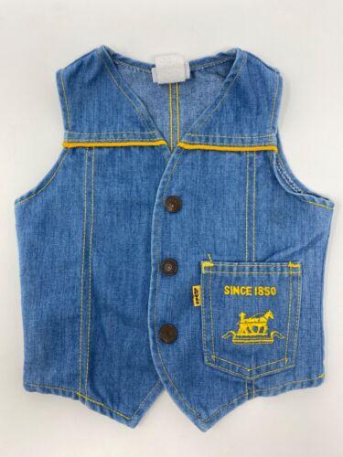 Vintage Levi's Boys or Girls Jean Vest 2T 1970's