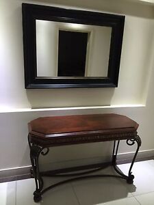 Entrance table and mirror Hoxton Park Liverpool Area Preview