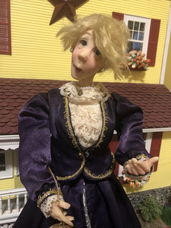 "~Jacqueline Kent JKC 21"" Doll Christmas Carolers 2004 In Purple Dress~"