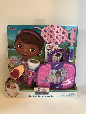 Doc Mcstuffins Set (Doc McStuffins Toy Hospital On Call Accessory Set Disney Junior Show NEW)
