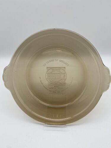 3 RARE Vtg Pyrex 1985 70 Year Anniversary Limited Edition Amber Pie Plates - $35.00