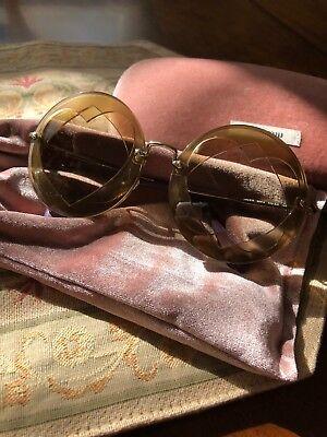 Miu Miu heart shaped round oversized rimless designer glasses *free (Miu Miu Round Glasses)